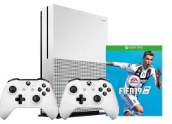 Xbox One S 1TB met 2 controllers, FIFA 19 en Rocket League voor €244 bij Bol.com