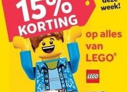 15 procent korting op alle LEGO bij Intertoys