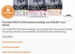 50% korting op Purina Pro Plan voor katten