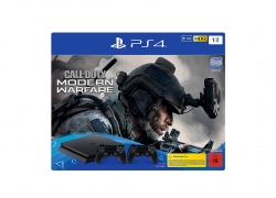 PS4 Slim 1TB met 2 controllers en Call of Duty Modern Warfare of FIFA 20 voor €199 op Amazon.de
